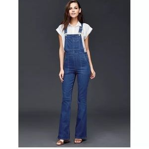 Gap 1969 Denim Slim Fit Flare Leg Overalls.